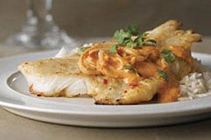 pescado frito con salsa de piminto