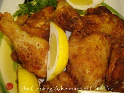 pollo frito al ajo