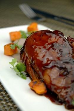 cerdo con salsa agridulce
