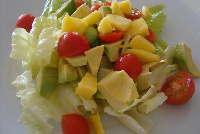 ensalada mango y papaya