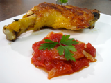pollo con salsa de tomate