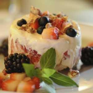 postre helado al sabor delchef