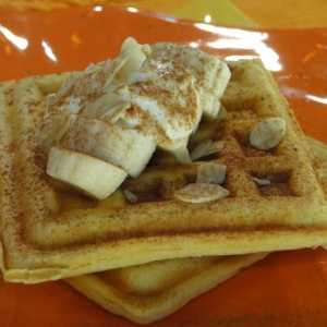 waffles con platano