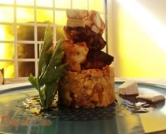 majadito de platano con pollo y queso