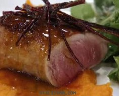 filete de cerdo a la vainilla