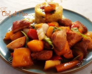 pescado en salsa oriental