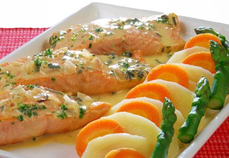 salmon cocina