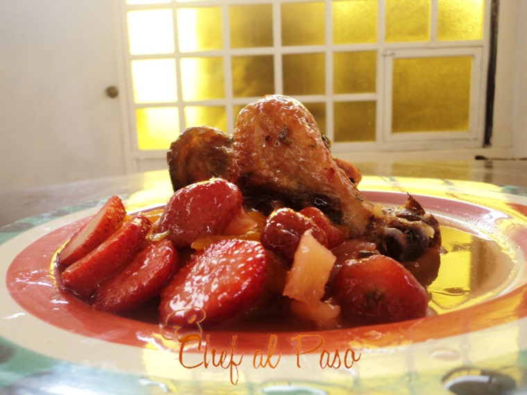 pollo en salsa de frutas(2)