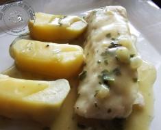 lomo de merlusa el salsa de almendras