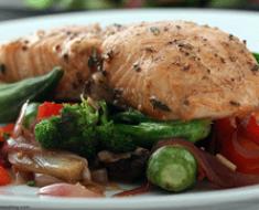 Salmon con vegetales 2