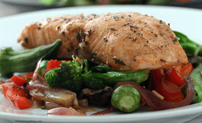 Salmon con vegetales 2