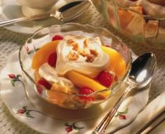 Postre frutas-helado