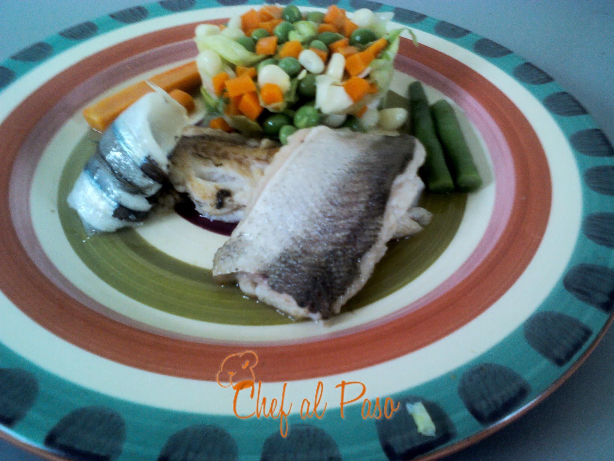 merluza a la plancha con verduras
