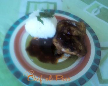 Pollo en salsa de cafe