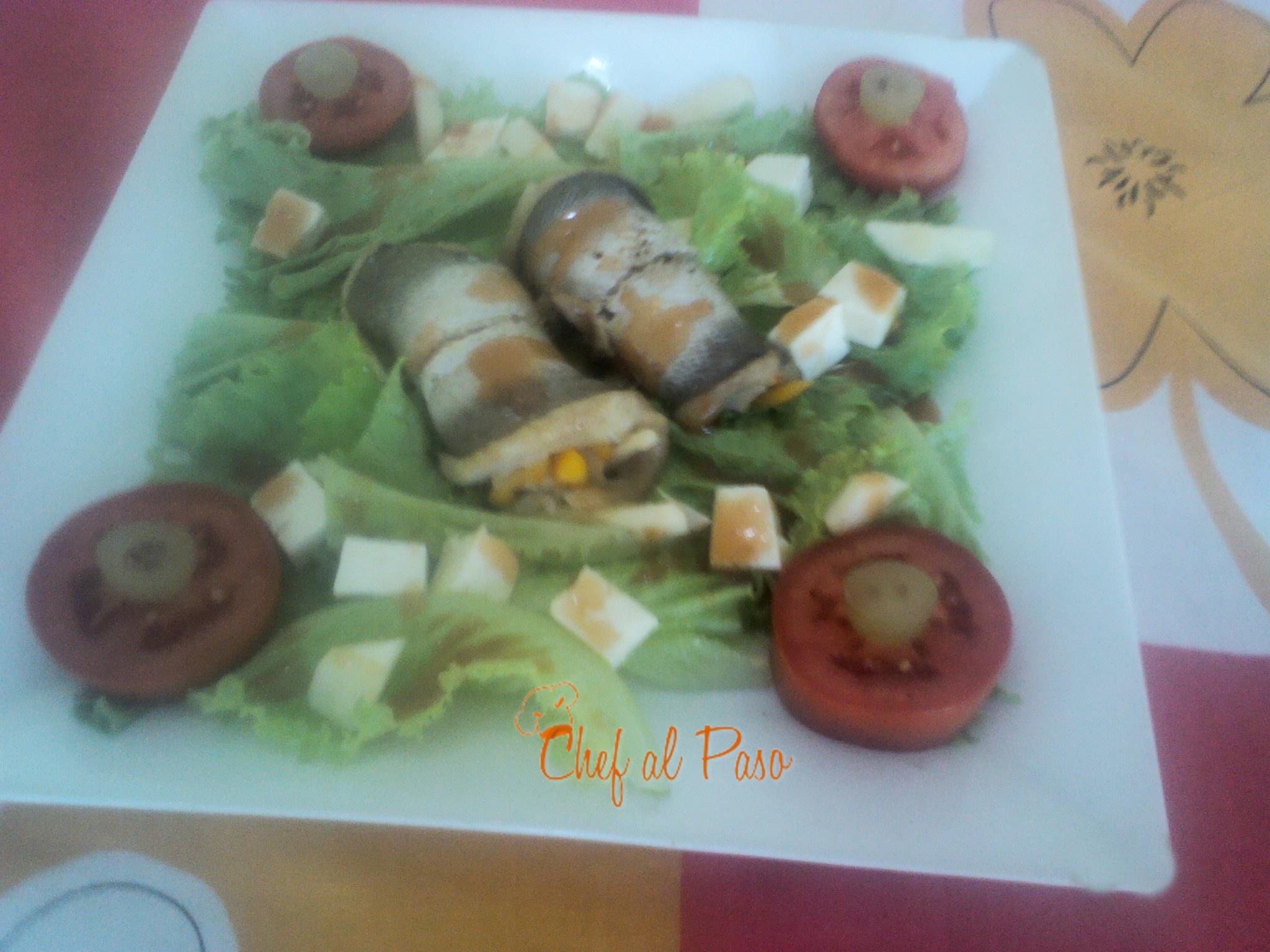 merluza errollada con ensalada agridulce 3