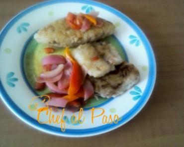 tacu tacu con escabeche de pescado