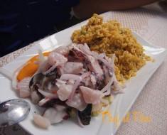 cebiche mixto con arroz con mariscos 2