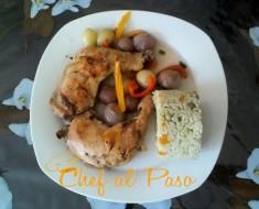 pollo al horno en salsa de uvas 2