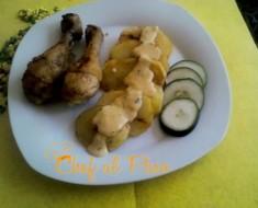 pollo con papas y salsa blanca 2