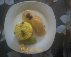 Arroz con mollejas de pollo y papa a la huancaina 5