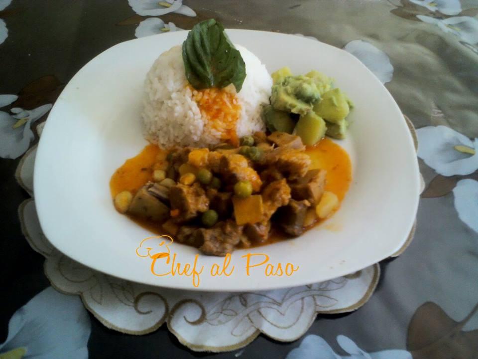 Guiso de criadillas con ensalada de papas y palta 3