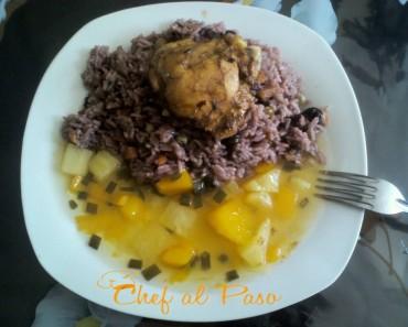 arroz a la coca cola con ensada de frutas 2