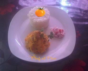 arroz con majado de yuca y salsa criolla 2
