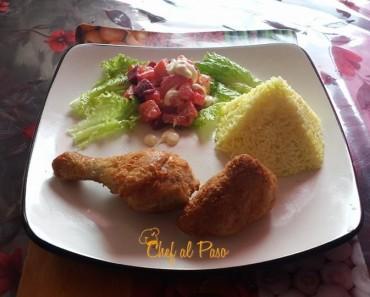 pollo crocante con ensalada rusa 3