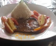 Higado encebollado con arroz 2