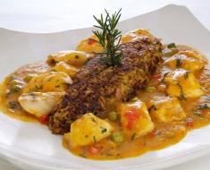 ajiaco de pescado con tacu tacu