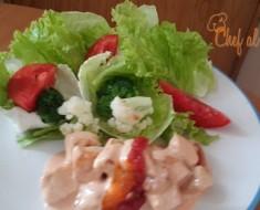 salteado de pollo con salsa rosa 2