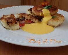 croquetas  de yuca rellenas de carne con crema de ají amarillo 2