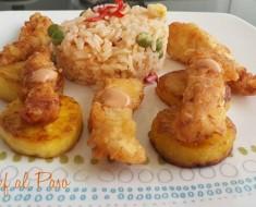 fajitas de pollo con arroz a la jardinera 4