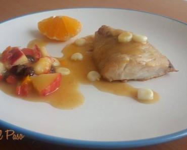 merluza con salsa de manzana y mandarina 2