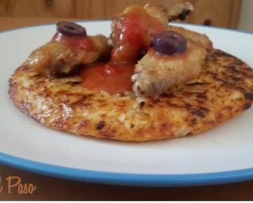 alitas de pollo con arroz crocante y salsa a la barbacoa  3