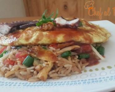arroz chaufa con tortilla de longostinos 5