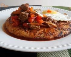 Carne al jugo con tacu tacu 2
