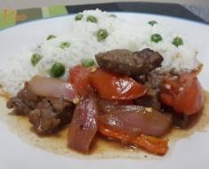 Carne al jugo con arroz blanco 13