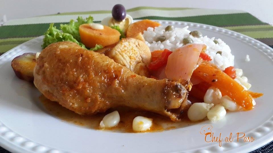 escabeche de pollo con arroz blanco 2