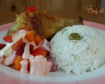 Guiso de pollo con ensalada rusa 2