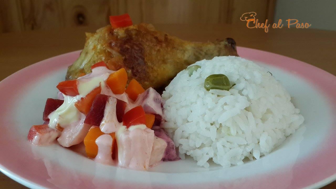 recipe: ensalada rusa con pollo al horno [11]