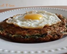 Tortilla de espinaca y huevo frito 2