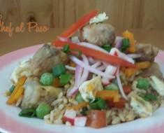 arroz chau con pescado 2