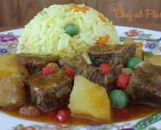 Delicioso guiso de res con arroz  a la jardinera 3