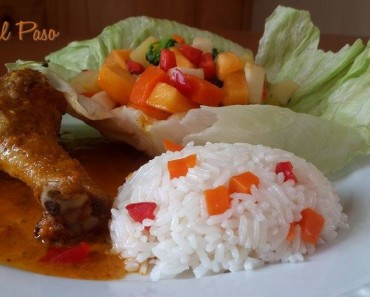 Guiso de pollo con ensalada de frutas y verduras 5