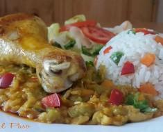 Pollo con menestra y ensalada 3