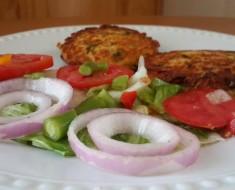 arepas de pollo con ensalada de verduras 2
