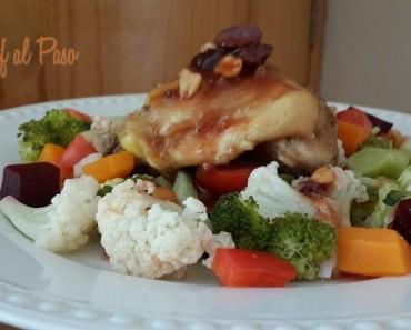 encuentros de pollo con ensalada de verduras 4