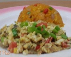 huevos con majado de yuca  2