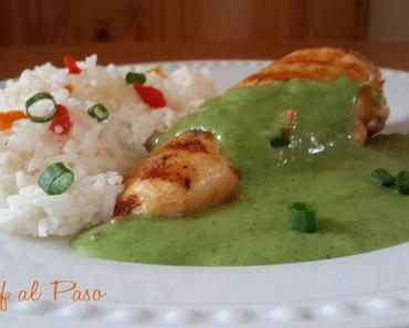 pechuga de pollo con crema cilantro 4